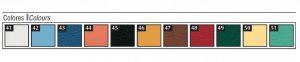 Wickeltisch - Farbkarte Polsterung